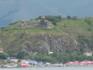 С нашего берега Севана виднеется остров, а на нем - церковка