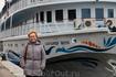 """Теплоход """"Александр Бенуа"""" готов к плаванию и ждет своих пассажиров."""