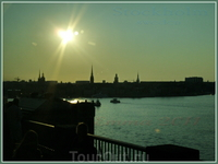 Вечерний Стокгольм.