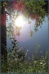 Белая речка. Солнце встало