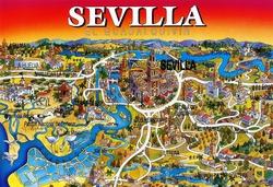 Карта Севильи