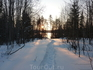 Февраль 2012г. Тропа к озеру. Вечереет.
