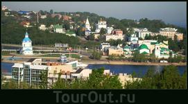 историческая часть города. На этом месте находилась Чебоксарская крепость (деревянная) - отсюда пошёл город.