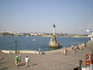 Приморский бульвар. Памятник затопленным кораблям.