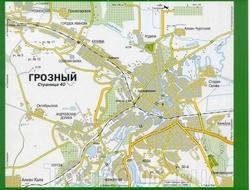 Карта улиц Грозного