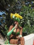 Девочка из анимации...она сахарный тросник как трубочку со сгущенкой трескает =)))