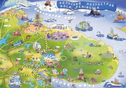 Карта Кольского полуострова