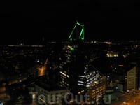Вид с панорамного бара отеля редиссон