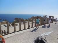 акрополь в Линдосе второй по значимости в Греции