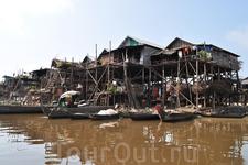 рыбацкая деревня на озере Тонлесап