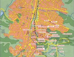 Карта санаториев Кисловодска