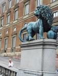 с другой стороны Королевского дворца. СТОКГОЛЬМ.