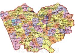 Карта Алтая
