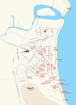 Карта баров и кафе Нья Чанга