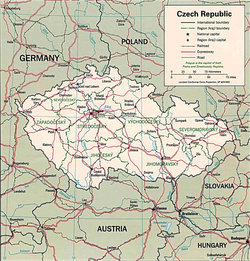 Карта Чехии с дорогами