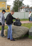 Бронзовый кошелечек- подарок от Риги к 300-летию Петрозаводска. Не открывается, проверено!