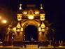 Почти дома...Краснодар.Екатерининская Арка  ночью рядом с памятником Екатерине второй.