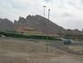 Купальни на горячих источниках в  Аль-Айне. На заднем плане горы. Горы старые, разрушаются. Камень возят в Дубай и Абу Даби для отсыпки набережных и искусственных ...