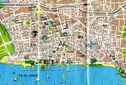 Карта Тель-Авива на русском