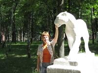 парк в Курске, гипсовые скульптуры совсем как в детстве