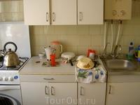 Квартира, которую мы снимали. Кухня.