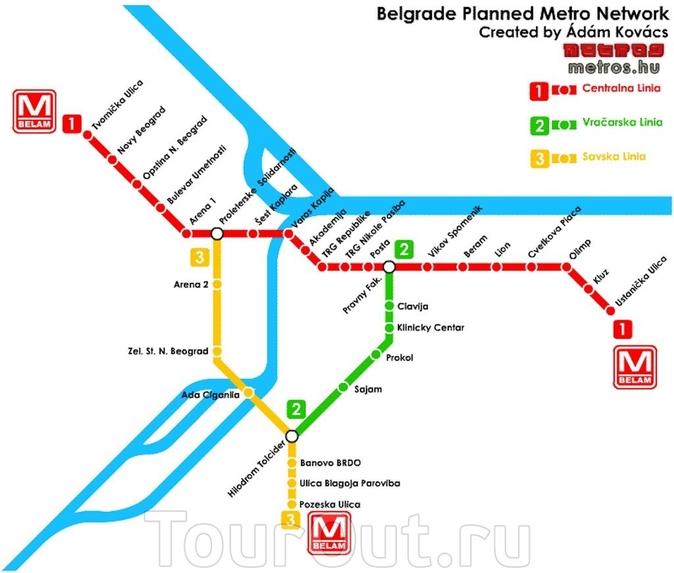 Карта метро Белграда