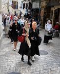 Паломники в Иерусалиме на Виа Долороза