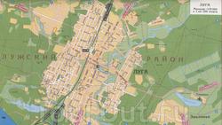 Карта Луги с улицами