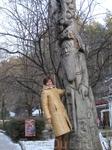 рядом с дедом Всеведом (в парке)