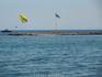 островок перед пляжем в Фалираки
