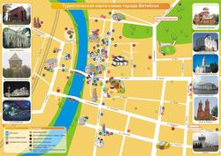Карта Витебска с достопримечательностями