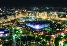 Парк Tashkent city. Он расположен в центре строящиеся проекта нового центра города