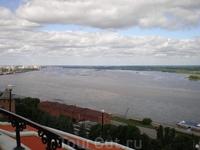 Вид на Волгу с Чкаловской лестницы