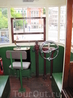 Кабина старого трамвайчика