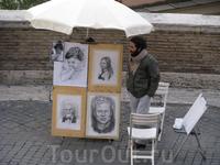 Художник-портретист на Испанской лестнице
