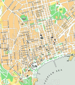 Карта центра Баку