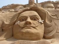 """Фестиваль песчаных скульптур в Альбуфейре - """"Сальвадор Дали"""""""