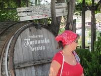 Вот такие бочки с вином. Вино в Болгарии очень вкусное.