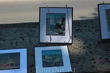 Картинки с видами Парижа на берегу Сены.