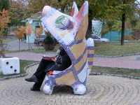 Скамейка-котенок