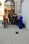 Праздничные уличные музыканты
