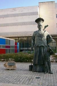 Памятник индейцу в Реусе