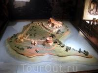 Макет острова, где расположен знаменитый замок