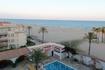 Вид с балкона номера 419 на пляж ранним утром в 7 час.30 мин.