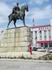 Памятник Махачу Дахадаеву. На привокзальной площади Махачкалы. Город и переименовали в честь него. Ранее он назывался Порт-Петровск.
