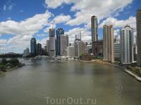 Город и река Брисбен