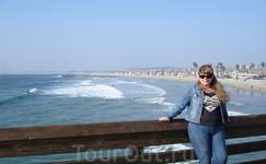 Пирс в Newport Beach, Ca.