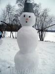 Финский снеговик слеплен русскими руками