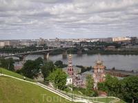 Вид  на Оку со смотровой площадки