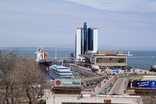 вид на порт Одессы by D.